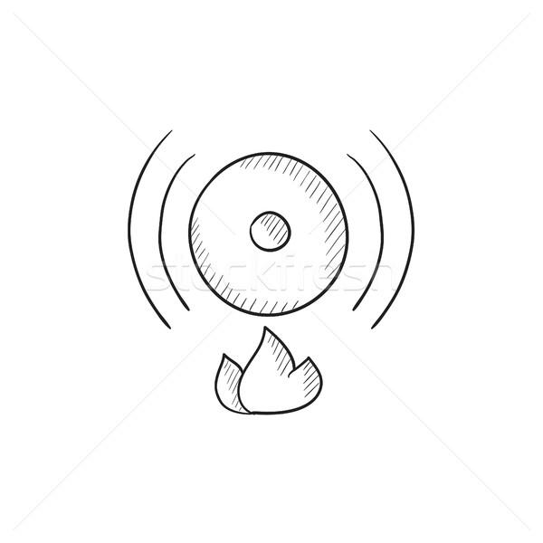 Fire alarm sketch icon. Stock photo © RAStudio