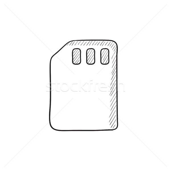 Sim card sketch icon. Stock photo © RAStudio