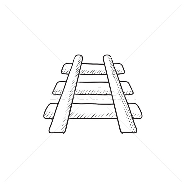Railway track sketch icon. Stock photo © RAStudio