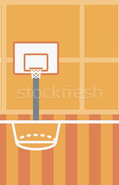 Stockfoto: Basketbalveld · basketbal · arena · vector · ontwerp · illustratie