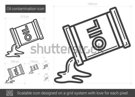 нефть баррель эскиз икона вектора изолированный Сток-фото © RAStudio