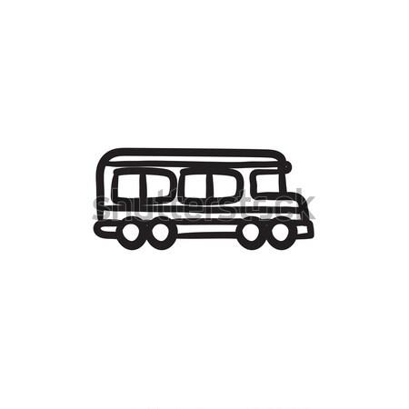 School bus sketch icon. Stock photo © RAStudio