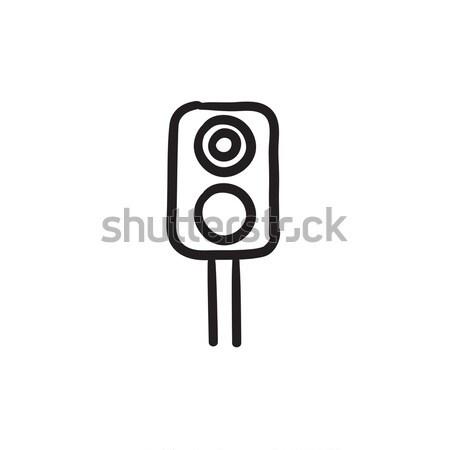 鉄道 信号 スケッチ アイコン ベクトル 孤立した ストックフォト © RAStudio