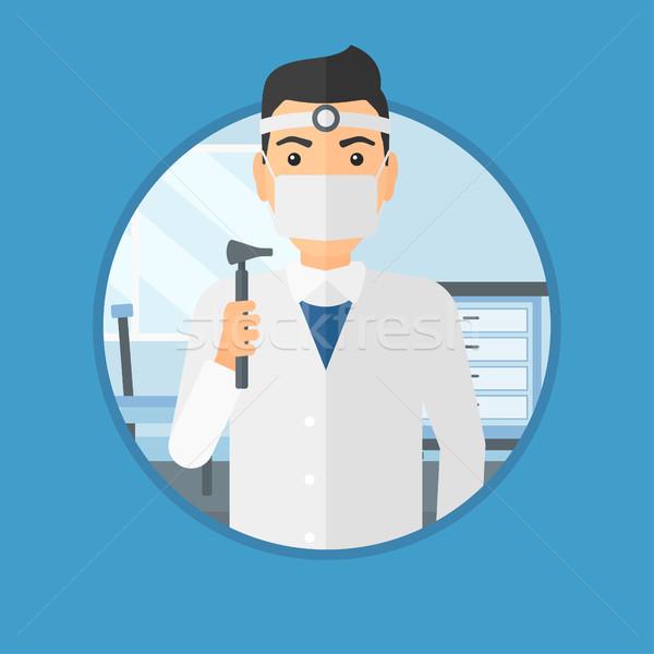 уха носа горло врач Постоянный медицинской Сток-фото © RAStudio