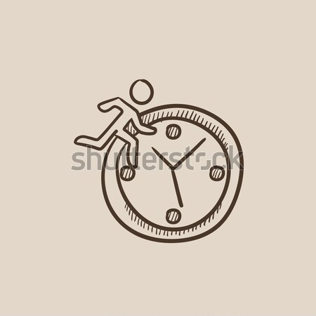 Time management sketch icon. Stock photo © RAStudio