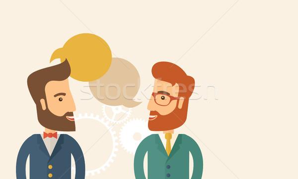 Two professional young men Stock photo © RAStudio