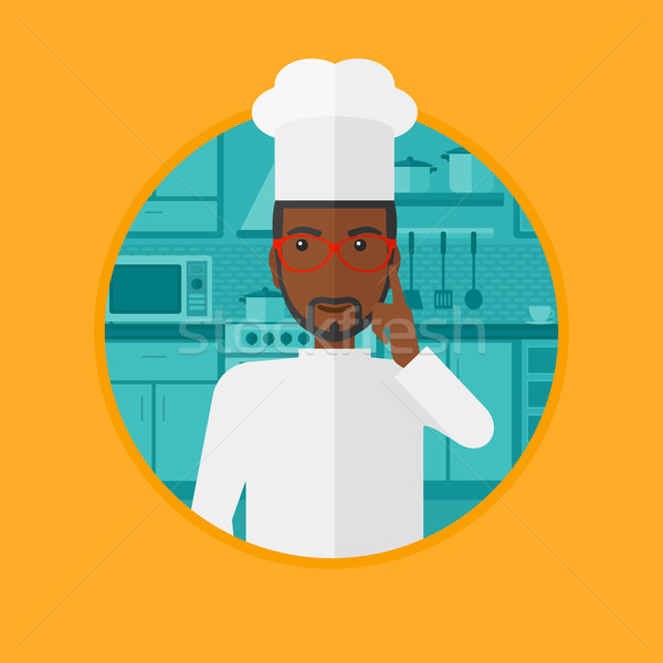 Chief cooker having idea vector illustration. Stock photo © RAStudio
