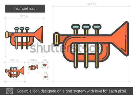 Trumpet line icon. Stock photo © RAStudio