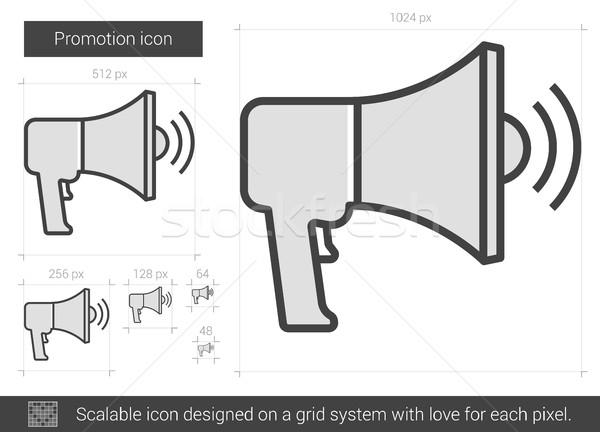 Promotie lijn icon vector geïsoleerd witte Stockfoto © RAStudio