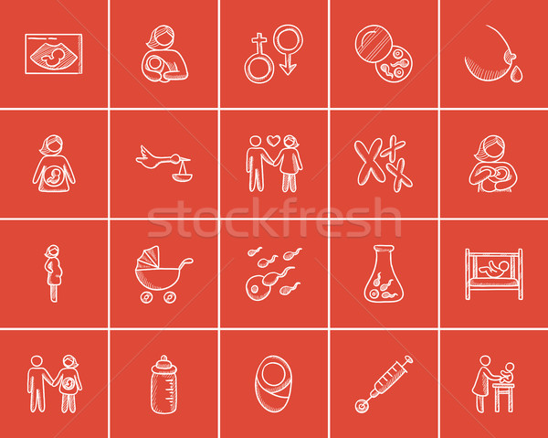 материнство эскиз веб мобильных Инфографика Сток-фото © RAStudio