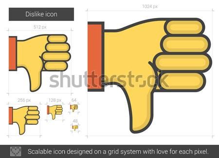 Aversión línea icono vector aislado blanco Foto stock © RAStudio