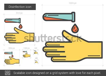 Vérvizsgálat vonal ikon vektor izolált fehér Stock fotó © RAStudio
