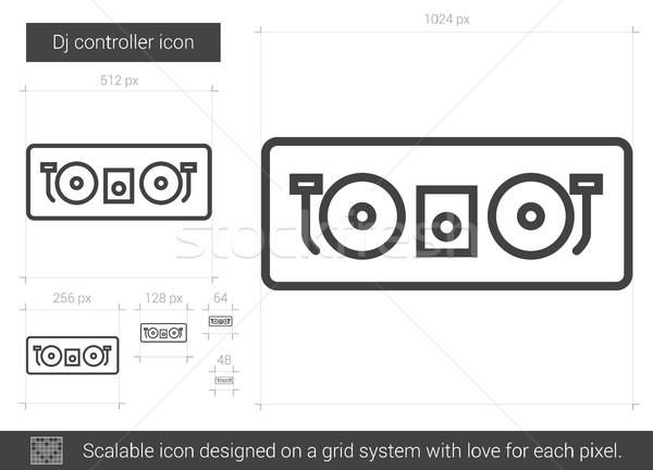 Dj controller line icon. Stock photo © RAStudio