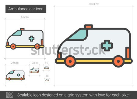 Ambulance car line icon. Stock photo © RAStudio