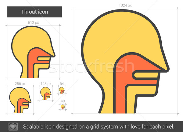 Throat line icon. Stock photo © RAStudio