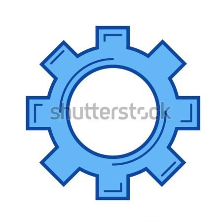 Pago opciones línea icono vector aislado Foto stock © RAStudio