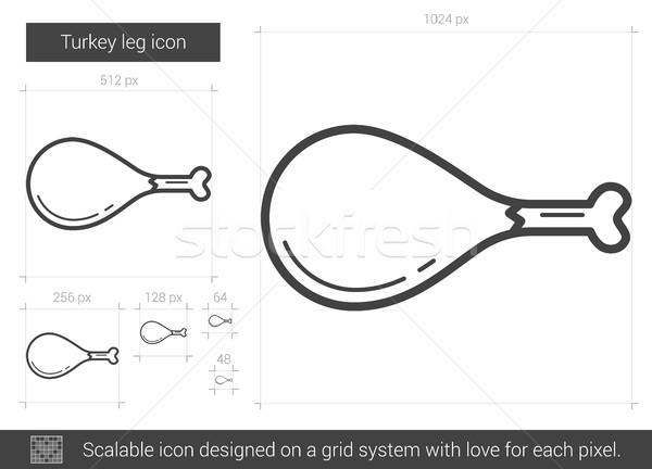Turkey leg line icon. Stock photo © RAStudio