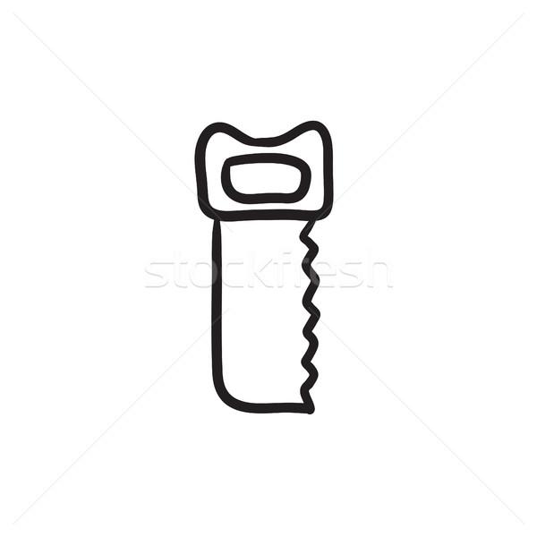 Сток-фото: увидела · эскиз · икона · вектора · изолированный · рисованной