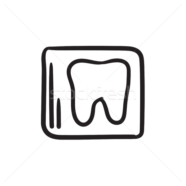 X-ray of tooth sketch icon. Stock photo © RAStudio