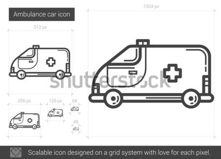Сток-фото: скорой · автомобилей · линия · икона · вектора · изолированный