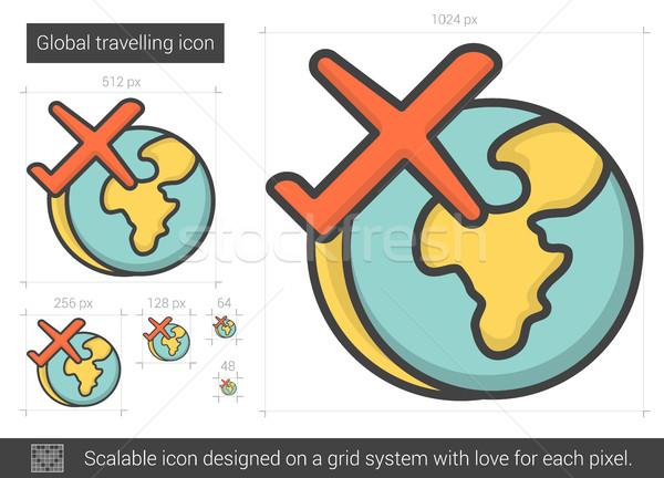 Global traveling line icon. Stock photo © RAStudio