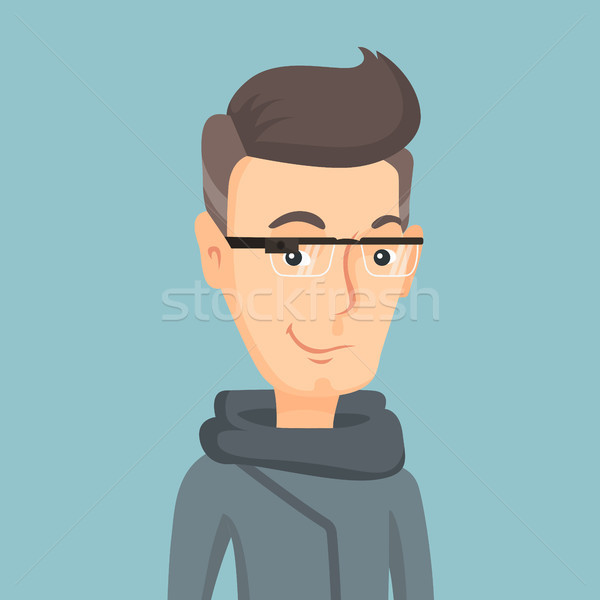 Man wearing smart glass vector illustration. Stock photo © RAStudio