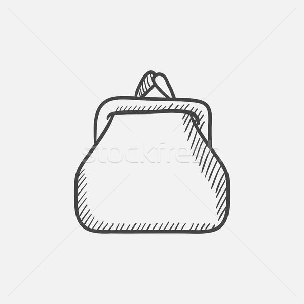 財布 スケッチ アイコン ウェブ 携帯 インフォグラフィック ストックフォト © RAStudio