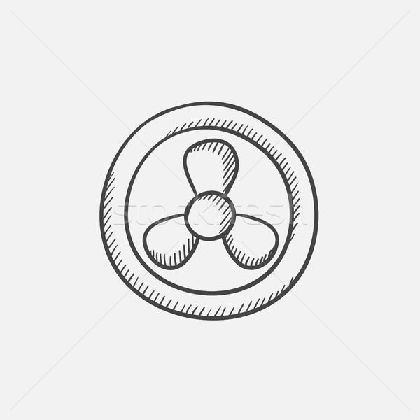 Computer cooler sketch icon. Stock photo © RAStudio