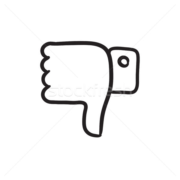 Thumbs down sketch icon. Stock photo © RAStudio
