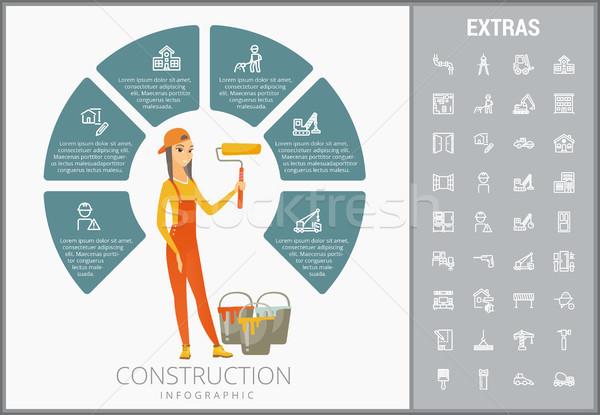 Construction infographic template and elements. Stock photo © RAStudio