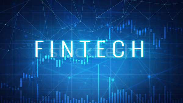 Fintech financial technology on futuristic hud banner. Stock photo © RAStudio