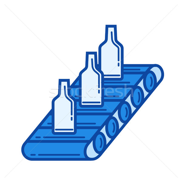Conveyor line icon. Stock photo © RAStudio