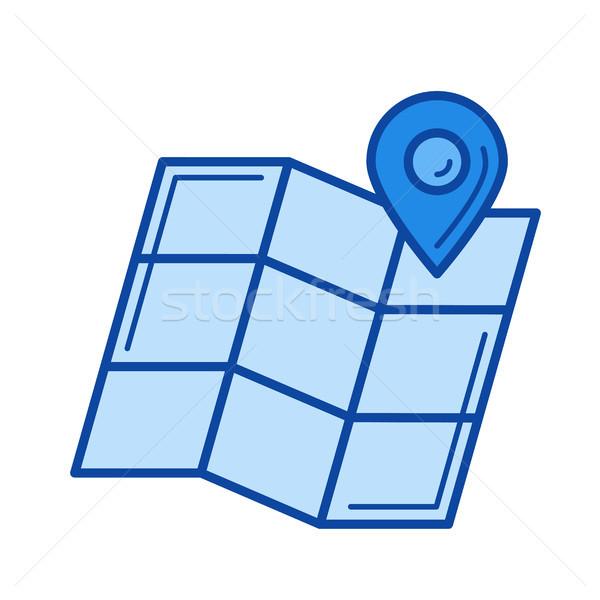маршрут планирования линия икона вектора изолированный Сток-фото © RAStudio