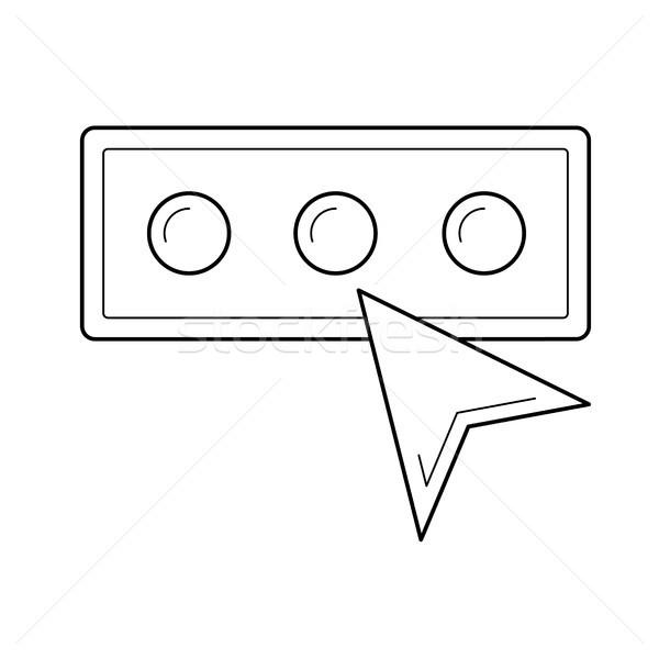 Kennwort line Symbol Vektor isoliert weiß Stock foto © RAStudio
