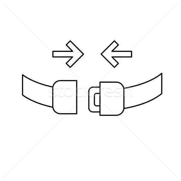 Koltuk kemer hat ikon güvenlik vektör Stok fotoğraf © RAStudio