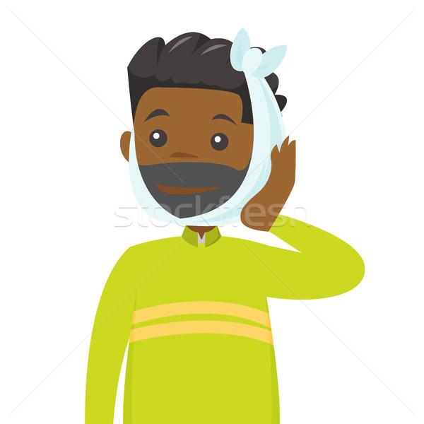 African-american man suffering from teeth ache. Stock photo © RAStudio
