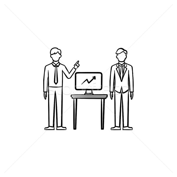 Strategy consulting hand drawn sketch icon. Stock photo © RAStudio