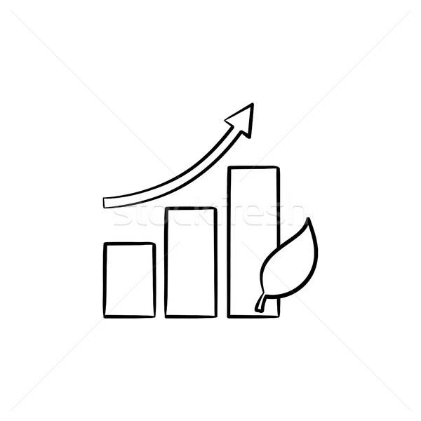 Growth arrow hand drawn sketch icon. Stock photo © RAStudio