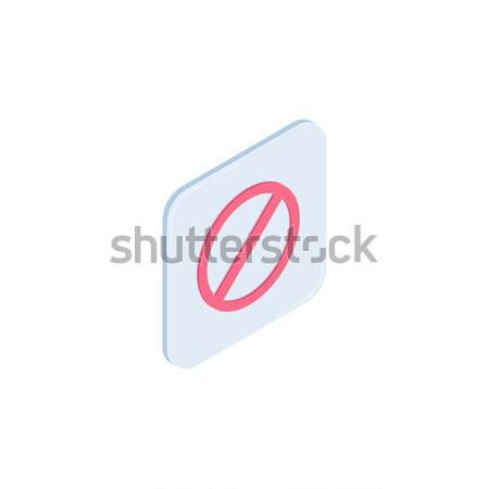 Stop vector isometric icon Stock photo © RAStudio