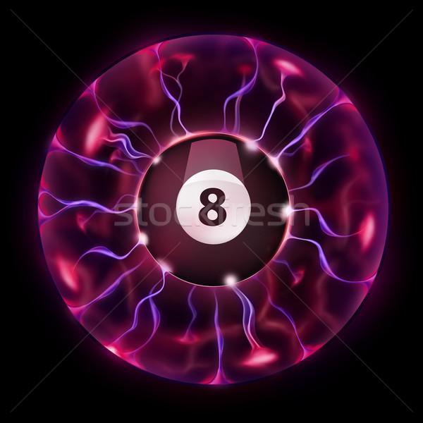 ビリヤード ボール ホイール 魔法 孤立した 黒 ストックフォト © RAStudio