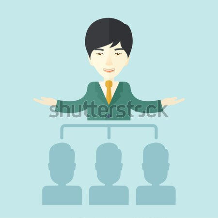 Asian man giving a buisness speech. Stock photo © RAStudio