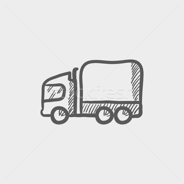 Delivery truck sketch icon Stock photo © RAStudio