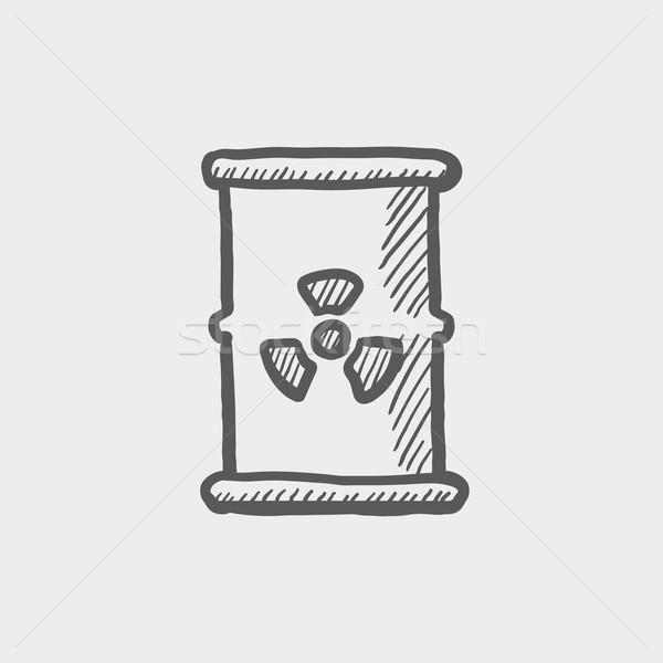 Tank with propeller sketch icon Stock photo © RAStudio
