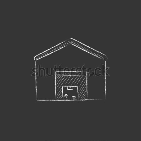 House fire alarm icon drawn in chalk. Stock photo © RAStudio
