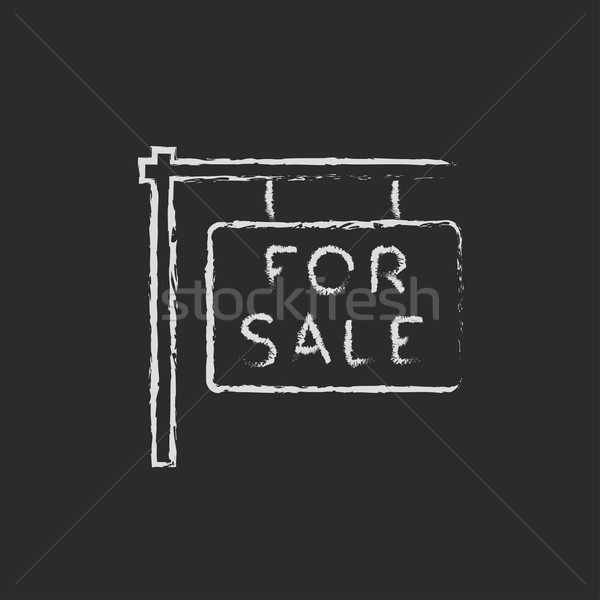 For sale placard icon drawn in chalk. Stock photo © RAStudio