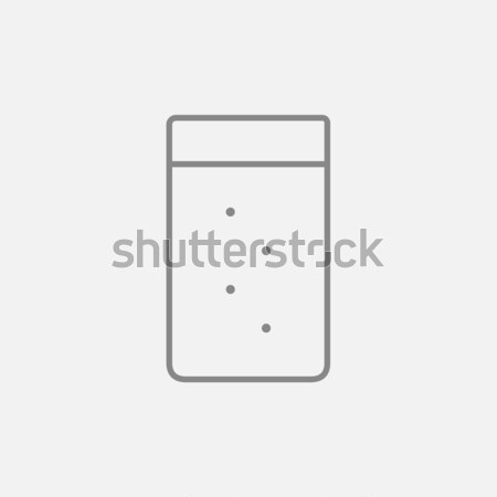 Glass of water line icon. Stock photo © RAStudio