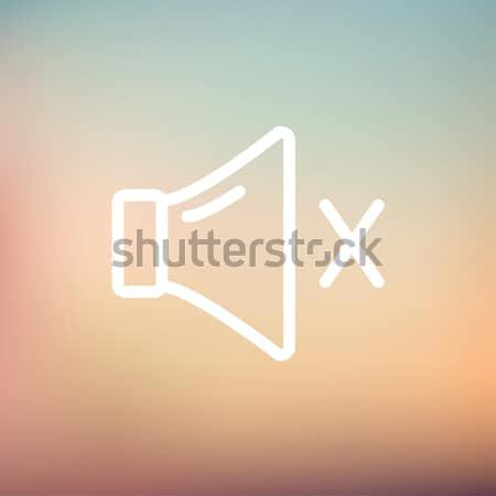 Néma hangszóró vonal ikon háló mobil Stock fotó © RAStudio