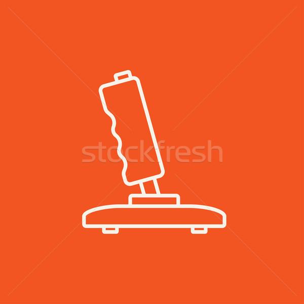 Botkormány vonal ikon háló mobil infografika Stock fotó © RAStudio