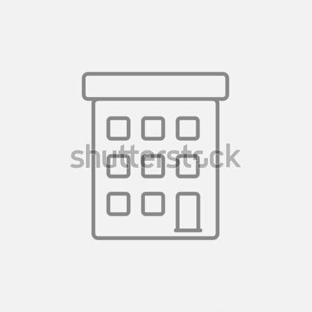 Condominium building line icon. Stock photo © RAStudio