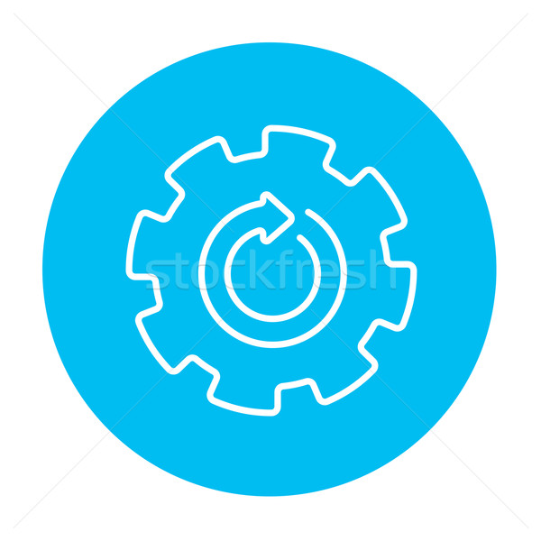 Gear wheel with arrow line icon. Stock photo © RAStudio